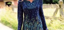 Tunique manche longue femme: mettez de la couleur
