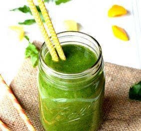 Smoothie vert, tout aussi intéressant pour l'organisme que délicieux à goûter