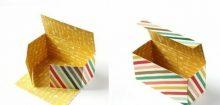 Comment fabriquer une boite en papier ?