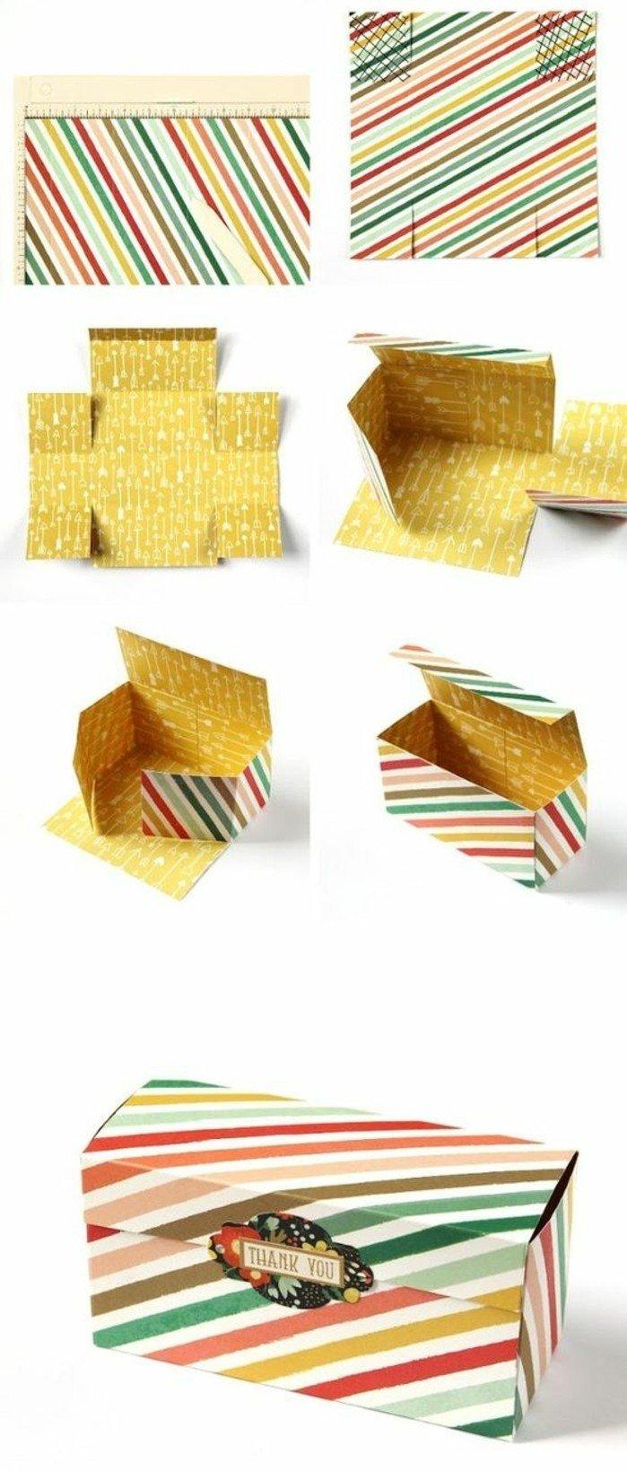 Comment fabriquer une boite en papier - Patron boite en carton rectangulaire ...